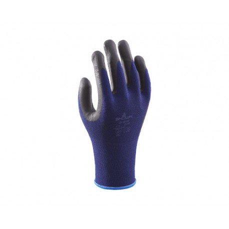 SHOWA 380 GLOVES MICROPORUS NITRILE COATING ON PALM OVER NYLON LINER