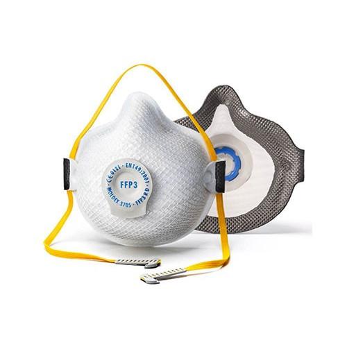 MASCHERINE RIUTILIZZABILI MOLDEX AIR SEAL 3705 FFP3 R D + VALVOLA VENTEX®