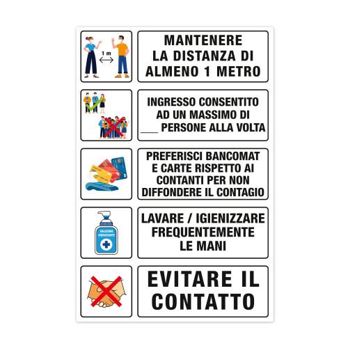 CARTELLO COVID FORMATO A3 PER INFORMAZIONI SU SICUREZZA E IGIENE