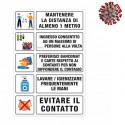 COVID ADHESIVE SIGN A3 REGULAR FORMAT FOR INFORMATION ON SAFETY AND HYGIENE (in italian language only)