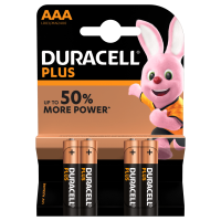 BLISTER 4 BATTERIE ALCALINE DURACELL® PLUS AAA MINI STILO
