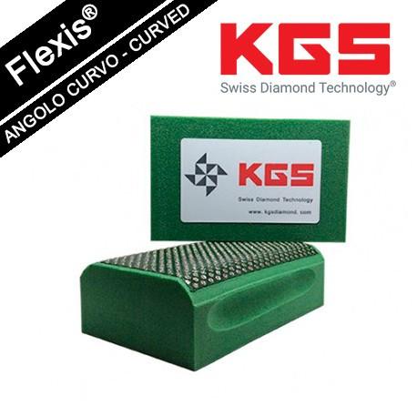 KGS DIAMOND HAND POLISHING PRO-PAD 90x55 MM CURVED EDGES GRIT 60M