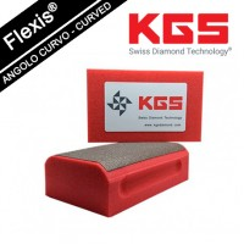 KGS DIAMOND HAND POLISHING PRO-PAD 90x55 MM CURVED EDGES GRIT 200M