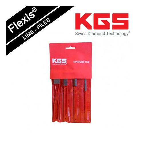 KGS FLEXIS® DIAMOND FILE TOOL SET GRIT 200
