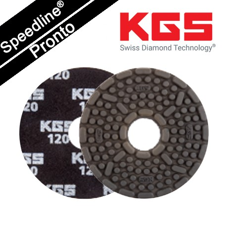 Speedline® Pronto DIAMOND POLISHING PAD 4''/100mm QRS BK-120 for WET POLISHING GRANITE AND ENGINEERED STONE