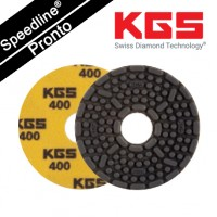 Speedline® Pronto DIAMOND POLISHING PAD 4''/100mm QRS YE-400 for WET POLISHING GRANITE AND ENGINEERED STONE