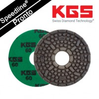 Speedline® Pronto DIAMOND POLISHING PAD 4''/100mm QRS GN-60 for WET POLISHING GRANITE AND ENGINEERED STONE