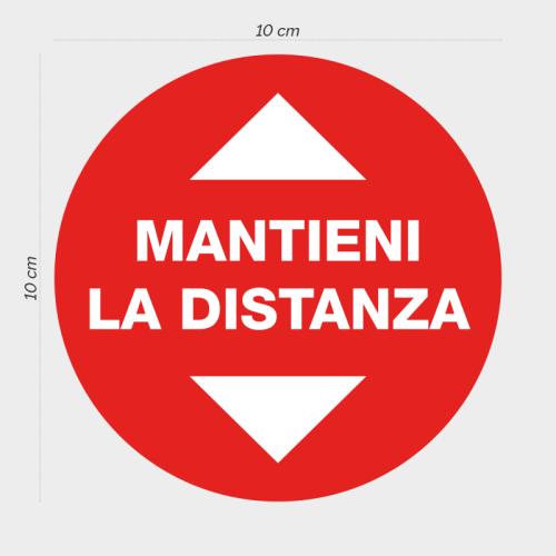 CARTELLO ADESIVO COVID CALPESTABILE GRAFICA PRESTAMPATA MANTIENI LA DISTANZA