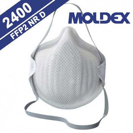 MASCHERINA ANTIPOLVERE,NEBBIA e FUMO monouso MOLDEX CLASSICS 2400 FFP2 NR D