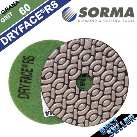DRY DIAMOND RESIN POLISHING PAD DRYFACE® RS 100 H20 QRS GREEN