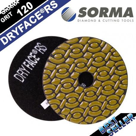 DRY DIAMOND RESIN POLISHING PAD DRYFACE® RS 100 H20 QRS BLACK
