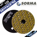 4 INCH DRYFACE® RS DRY POLISHING PAD GRIT 100 FOR MARBLE, GRANITE AND HARD STONES