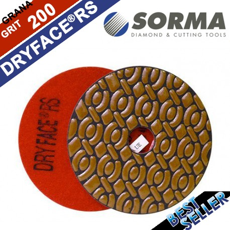DRY DIAMOND RESIN POLISHING PAD DRYFACE® RS 100 H20 QRS RED