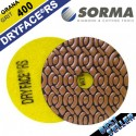4 INCH DRYFACE® RS DRY POLISHING PAD GRIT 400 FOR MARBLE, GRANITE AND HARD STONES