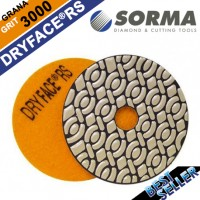 DRY DIAMOND RESIN POLISHING PAD DRYFACE® RS 100 H20 QRS ORANGE
