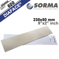 DIAMOND POLISHING ABRASIVE SHEET DIAFACE® 230x50 CANVAS WHITE METAL