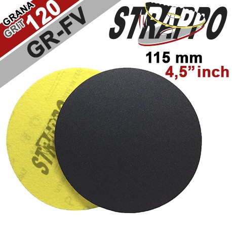 "DRY SANDING DISCS ""STRAPPO"" 4,5''/GR-FV 120 QRS for MARBLE, NATURAL STONE, LIMESTONE, BRICK, CONCRETE"