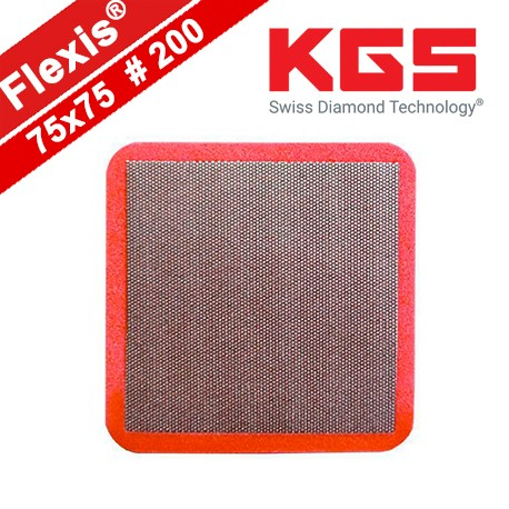 ULTRA- THIN AND SUPER- FLEXIBLE DIAMOND HAND POLISHING PAD 75x75 VERY FINE GRIT RD-200