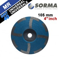 DIAMOND CUP WHEEL RESIN FILLED 4 INCH M14 GRIT 40 FOR UNIVERSAL USE