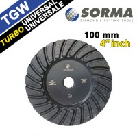 SINTERED DOUBLE TURBO DIAMOND WHEEL TGW 4 INCH M14 FOR UNIVERSAL USE