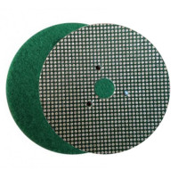 WET POLISHING PAD VELCRO® DISC DIAFACE® 100 H16 + 3F QRS GREEN FOR MARBLE - GRANITE - CERAMIC - GLASS - ENGINEERED STONE
