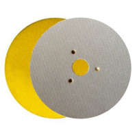 WET POLISHING PAD VELCRO® DISC DIAFACE® 100 H16 + 3F QRS YELLOW FOR MARBLE - GRANITE - CERAMIC - GLASS - ENGINEERED STONE