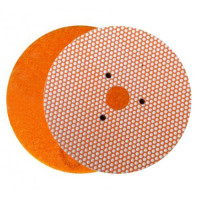 WET POLISHING PAD VELCRO® DISC DIAFACE® 100 H16 + 3F QRS ORANGE FOR MARBLE - GRANITE - CERAMIC - GLASS - ENGINEERED STONE