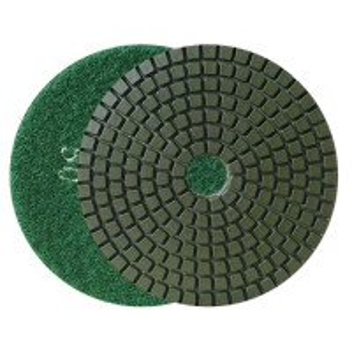 WET FLEXIBLE DIAMOND RESIN POLISHING PAD DIAHARD® ECO 100 H16 QRS GREEN