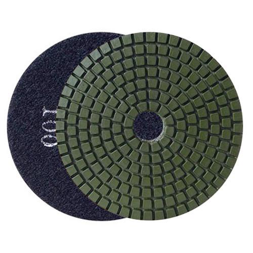 WET FLEXIBLE DIAMOND RESIN POLISHING PAD DIAHARD® ECO 100 H16 QRS BLACK