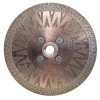 ELECTROPLATED DIAMOND BLADE SANKYO 5 INCH M14 REINFORCED for MARBLE AND FIBERGLASS