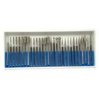 SET OF 30 ELECTROPLATED MOUNTED POINTS