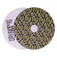 DRY DIAMOND RESIN POLISHING PAD DRYFACE® RS 100 H20 QRS WHITE
