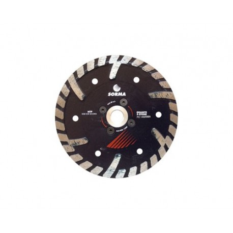 NTP 125 DRY DIAMOND CUTTING BLADE FOR ANGLE GRINDERS - CUTTING GRANITE ENGINEERED STONE