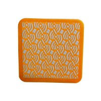DIAMOND HAND POLISHING PAD MOONFLEX® 75X75 ORANGE GRIT 8000R