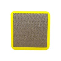 DIAMOND HAND POLISHING PAD MOONFLEX® 75X75 YELLOW GRIT 400M