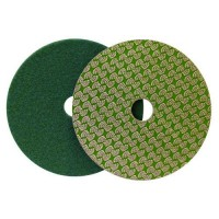 DRY DIAMOND POLISHING PAD DRYFACE® MOON 100 H16 QRS GREEN