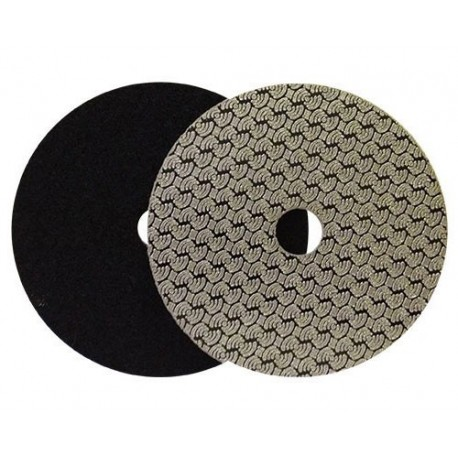 DRY DIAMOND POLISHING PAD DRYFACE® MOON 100 H16 QRS BLACK