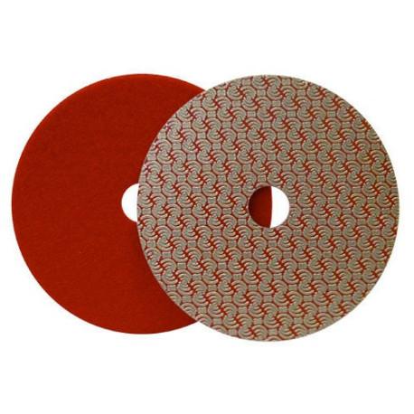 DRY DIAMOND POLISHING PAD DRYFACE® MOON 100 H16 QRS RED