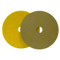 DRY DIAMOND POLISHING PAD DRYFACE® MOON 100 H16 QRS YELLOW