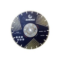 "9"" INCH SORMA EDSK ELECTROPLATED SEGMENTED BLADE WITH LATERAL COATINGS"