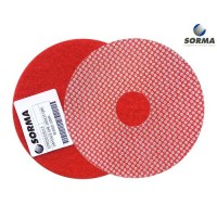 DRY POLISHING PAD EPR 100 H25 QRS RED GRIT 200