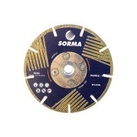 "4.5"" INCH SORMA EDSK ELECTROPLATED SEGMENTED BLADE WITH SIDE COATINGS"