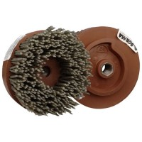 ABRASIVE DISC BRUSH MAFLEX DA-RESIN Ø107 GRIT 24 FOR ANGLE GRINDERS - ANTIQUING MARBLE - TERRAZZO - SANDSTONE