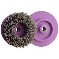 ABRASIVE DISC BRUSH MAFLEX DA-RESIN Ø107 GRIT 36 FOR ANGLE GRINDERS - ANTIQUING MARBLE - TERRAZZO - SANDSTONE
