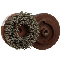 ABRASIVE DISC BRUSH MAFLEX DA-RESIN Ø107 GRIT 60 FOR ANGLE GRINDERS - ANTIQUING MARBLE - TERRAZZO - SANDSTONE