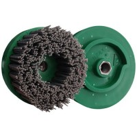 ABRASIVE DISC BRUSH MAFLEX DA-RESIN Ø107 GRIT 80 FOR ANGLE GRINDERS - ANTIQUING MARBLE - TERRAZZO - SANDSTONE