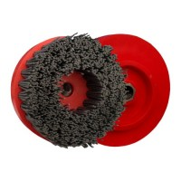 ABRASIVE DISC BRUSH MAFLEX DA-RESIN Ø107 GRIT 180 FOR ANGLE GRINDERS - ANTIQUING MARBLE - TERRAZZO - SANDSTONE