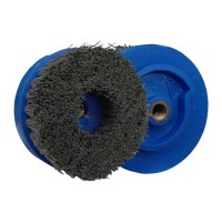 ABRASIVE DISC BRUSH MAFLEX DA-RESIN Ø107 GRIT 500 FOR ANGLE GRINDERS - ANTIQUING MARBLE - TERRAZZO - SANDSTONE
