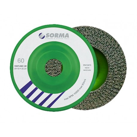 DIAMOND FLAP DISC DRY POLISHING PAD FASTLINE 115 H22,23 GREEN