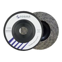 DIAMOND FLAP DISC DRY POLISHING PAD FASTLINE 115 H22,23 BLACK